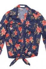 granatowa bluzeczka cache cache w kwiaty - letnia kolekcja