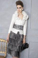 bia�a sukienka wieczorowa Higar w zebr� - trendy 2012