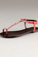 czerwone sanda�ki Giuseppe Zanotti ze zdobieniami - wiosna/lato 2012