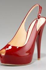 czerwone sanda�y Giuseppe Zanotti na szpilce - wiosna/lato 2012