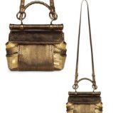 br�zowa torebka Roberto Cavalli w w�zow� sk�r� - kolekcja letnia