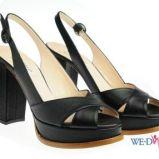 czarne sanda�y Simple na platformie - wiosna/lato 2012