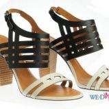 czarne sanda�ki Simple na obcasie - wiosna/lato 2012