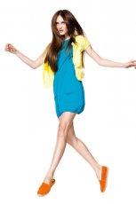 turkusowa sukienka Benetton bombka - z kolekcji wiosna-lato 2012