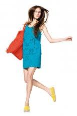 turkusowa sukienka Benetton - wiosna-lato 2012