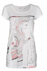 bia�y t-shirt Troll z nadrukiem - wiosna-lato 2012
