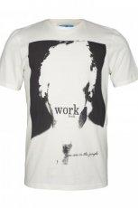 bia�y t-shirt Troll z nadrukiem - z kolekcji wiosna-lato 2012