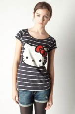 granatowy t-shirt Pull and Bear Hello Kitty - wiosna/lato 2012