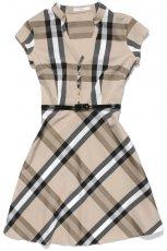 br�zowa sukienka TARANKO w kratk� - kolekcja na lato