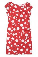 czerwona sukienka TARANKO w grochy - kolekcja wiosenno/letnia