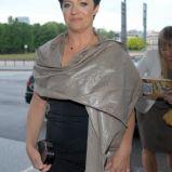 czarna sukienka - Ewa Drzyzga