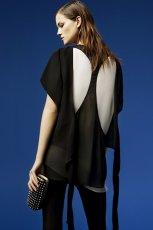 czarna bluzka ZARA - moda 2012