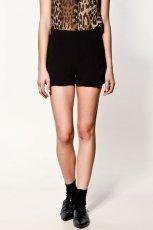 czarne szorty ZARA - z kolekcji wiosna-lato 2012