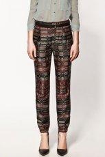 kolorowe spodnie ZARA alladynki - z kolekcji wiosna-lato 2012