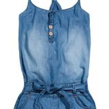 niebieski kombinezon Reserved d�insowy - trendy wiosna-lato