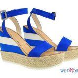 niebieskie sanda�y Simple fluo - wiosna/lato 2012