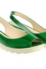 zielone sanda�ki Simple p�askie - wiosna/lato 2012