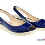 niebieskie sanda�ki Simple p�askie - wiosna/lato 2012