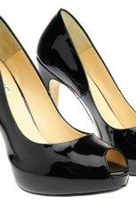 czarne szpilki Simple lakierowane - wiosna 2012