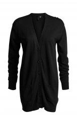 czarny sweter KappAhl d�ugi - z kolekcji wiosna-lato 2012