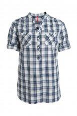 granatowa koszula KappAhl w kratk� - sezon wiosenno-letni