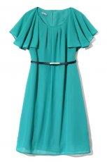 seledynowa sukienka DanHen z paskiem - z kolekcji wiosna-lato 2012