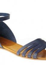 niebieskie sanda�y Gino Rossi p�askie - wiosna/lato 2012
