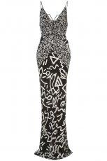 czarna sukienka Topshop we wzory - z kolekcji wiosna-lato 2012