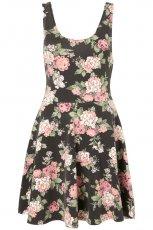 czarna sukienka Topshop w ��czk� - z kolekcji wiosna-lato 2012