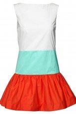 kolorowa sukienka H&M w pasy - wiosna/lato 2012