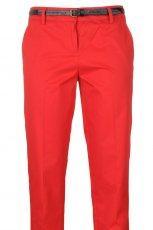 czerwone spodnie Camaieu z paskiem - moda 2012