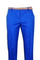 niebieskie spodnie Camaieu z paskiem - moda 2012
