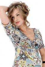 kolorowa tunika w kwiaty - wiosna/lato 2012