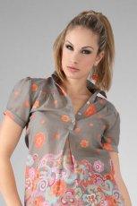 szara bluzka w kwiaty - wiosna/lato 2012