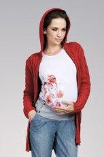 bordowy sweter z kapturem - 2012