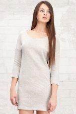szara sukienka Stradivarius g�adka - z kolekcji wiosna-lato 2012