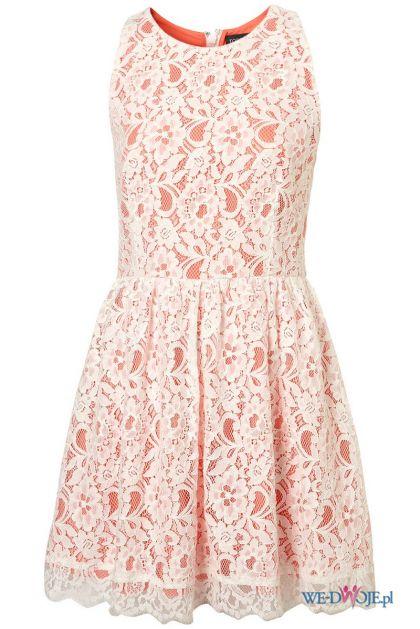 biała sukienka Topshop koronkowa - wiosna/lato 2012
