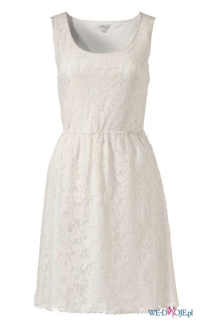 biała sukienka s.Oliver koronkowa - wiosna/lato 2012