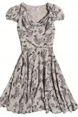 szara sukienka Orsay w kwiaty - wiosna-lato 2012