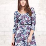 kolorowa sukienka Stradivarius w kwiaty - wiosna-lato 2012