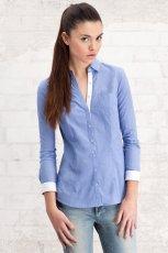 niebieska koszula Stradivarius - z kolekcji wiosna-lato 2012