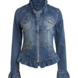 niebieska katana KappAhl z falbank� - z kolekcji wiosna-lato 2012
