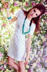 bia�a sukienka DanHen - wiosna 2012