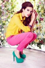 r�owe spodnie DanHen - moda 2012