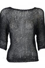 czarny sweter Solar a�urowy - trendy wiosna-lato