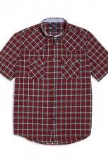 bordowa koszula KappAhl w kratk� - kolekcja wiosenno/letnia