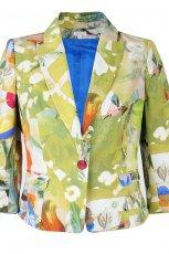 zielony �akiet Solar w kwiaty - z kolekcji wiosna-lato 2012