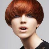 modny bob - w�osy rude - trendy fryzjerskie