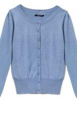 niebieski sweter House - sezon wiosenno-letni