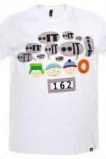 bia�y t-shirt Cropp z nadrukiem - z kolekcji wiosna-lato 2012